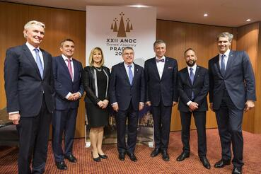 Hostitelé projektu Olympijské parky 2018 se potkali s prezidentem MOV Bachem